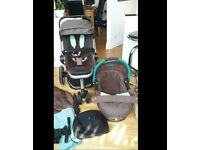 Quinny Buzz travel system with carrycot and maxi cosi car seat