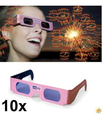 tbrille Happy Birthday Geburstagsgeschenk 3D Brille (Happy Birthday Brille)