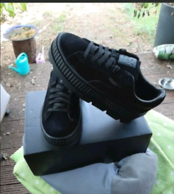 Brand new with box black Puma Fenty Cleated trainers size 4