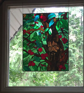 Hand made stained glass panels