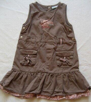 KIDS Mädchenkleid in Braun Gr. 6 Jahre mit Motiv auf der Brust - Brust 6 Jahren