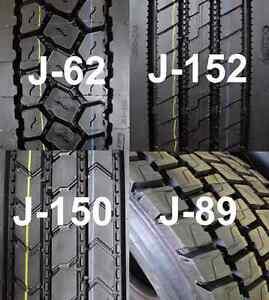 11R22.5 Stock of Aeolus New Recap Drive & Trailer Tires 16PLY