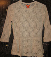 REDUCED! Lace Peplum Top - Like New!