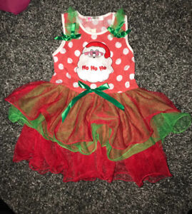 Santa Girls dress tutu outfit size 4t- 6t brand new with tags