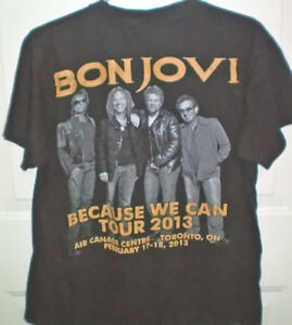 Bon Jovi NJ Concert DVD and 2 Double Sided Tee Shirts Set London Ontario image 1