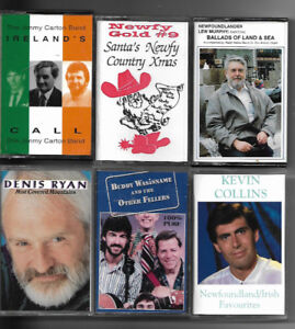 A Lot of 17 Newfoundland and Irish cassette tapes.
