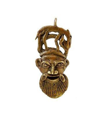 Mask African Bamoun Ancestor Lion Door Keys B10 D