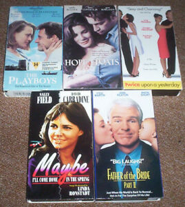 5 VHS(Video Cassette Tapes)Romance,Comedy,Drama Movies