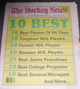 1983 HOCKEY NEWS 10 BEST OF THE BEST GRETZKY, ORR, HOWE