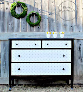 Beautifully restyled antique dresser