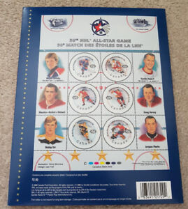 NHL 50th All-star game collector stamps