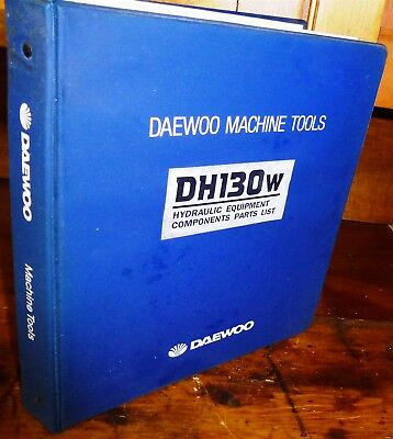 Daewoo Dh130w Excavator Hydraulic Components Parts Manual Wbinder