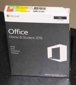 OFFICE 2016 FOR MAC, SEALED RETAIL BOX