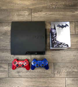PlayStation 3 (PS3) Slim 120GB x 2 Controllers x 10 Games