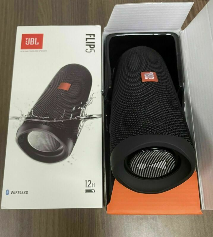 JBL Flip 5 Portable Speaker with Rechargeable Battery Bluetooth Black New US