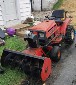 Lawn Tractor with snow blower attachment