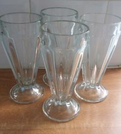 4 Americano Knickerbocker Glory glasses