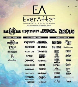 Ever After Tickets (2) 3-day GA at Tier 1 Price