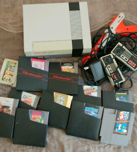 Original Nintendo NES with games