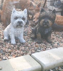 Stone garden ornaments of different animals concrete statues