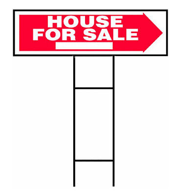 Hy Ko Rs 801 House For Sale Lawn Sign With H Bracket  10  X 24