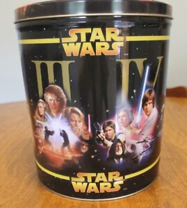 Star Wars I-VI popcorn can