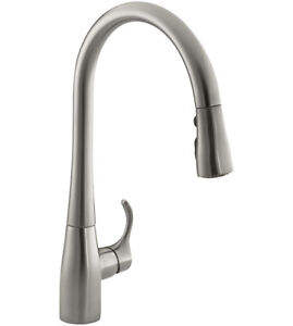 Kohler K-596-VS Simplice Single-Hole Pull-down Kitchen Faucet (V