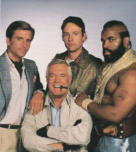 "1980'S PROMOTIONAL 8"" X 11"" PHOTO OF THE TV SHOW THE A TEAM"
