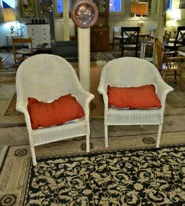 Wicker Chairs with Cusions