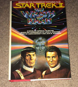 Star Trek The Wrath of Khan Hardcover Book w/ Dust Jaket 1982