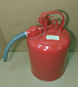 NEW SAFETY STORAGE GAS CAN TYPE 2 / 5 GAL RED