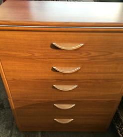 Teak bedside drawers
