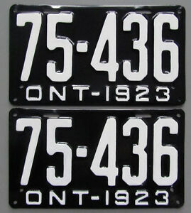Classic Car YOM License Plates - Ministry Approval Guaranteed! Belleville Belleville Area image 1