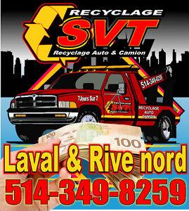 ♻️$$ ACHAT AUTO/CAMION POUR FERRAILLE $$♻️ LAVAL & RIVE NORD♻️$$