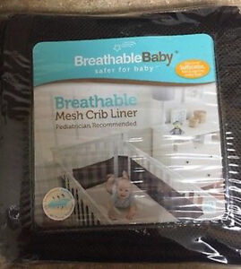 Breathable Mesh Crib Liner - Chocolate Brown