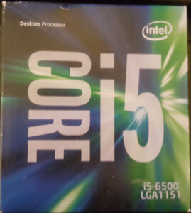 Intel i5 6500 LGA 1151 with warranty (can be OC with Asrock mobo