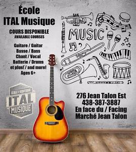 École de musique - Leçons - Music School - Lessons