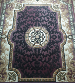 Large Rug / Carpet purple gold black 88x63""