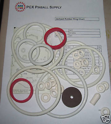 1971 Williams Jackpot Pinball Rubber Ring Kit