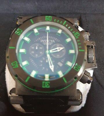 Invicta Mens 10036 Coalition Forces Chronograph Black Dial Watch Sale