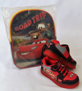 Disney Pixars The Cars School Back Pack and Size 8 Shoes