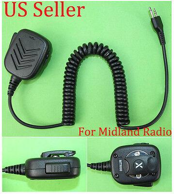 High Quality Hand Speaker Mic Midland 2two Way Radio Walkie Talkie -us Stock