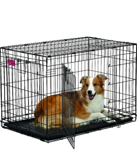 Midwest Home For Pets Life Stages Ace Double Door Dog Crate, 36""