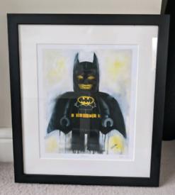Lego Batman original art work, professionally framed