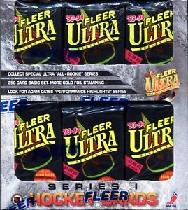 1993-94 FLEER ULTRA - SERIES 1 - hockey cards - JUMBO BOX