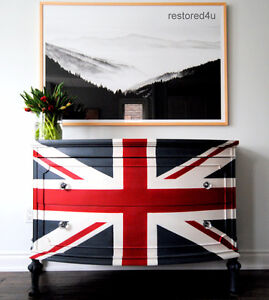 Refinished Union Jack dresser!!