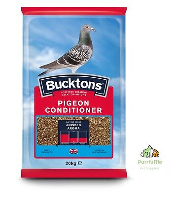 20KG BUCKTONS PIGEON CONDITIONER / TRAPPING MIX FOOD FEED Linseed Aniseed Oil