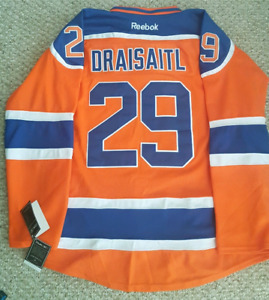 New Edmonton Oilers Draisaitl Medium Orange Hockey NHL Jersey