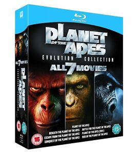BLU-RAY! PLANET OF THE APES 7 MOVIES BOX SET