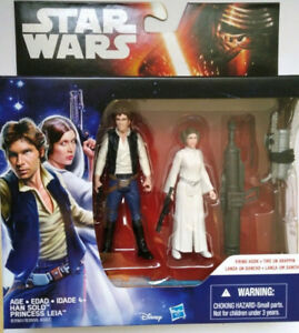 Han Solo and Princess Leia Action Figures - NEW